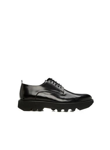 Divarese 5024816 Taban Detaylı Erkek Deri Ayakkabı Siyah